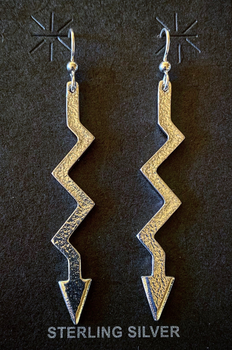 Jeff DeMent Sterling Silver Lightning Arrow Earrings