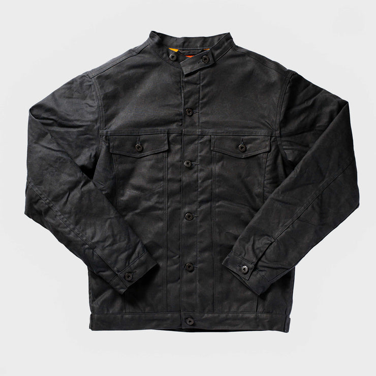 Wax Rider Coat Black Pendleton® Condensed Orange Lining