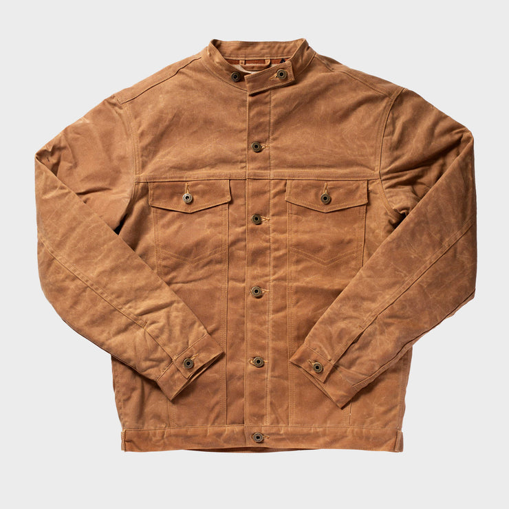 Wax Rider Coat Brown Pendleton® Rancho Arroyo Lining
