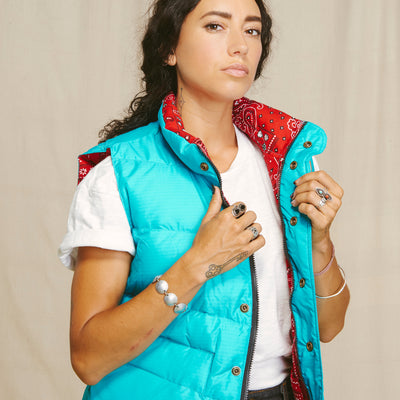 Strawberry Down Vest