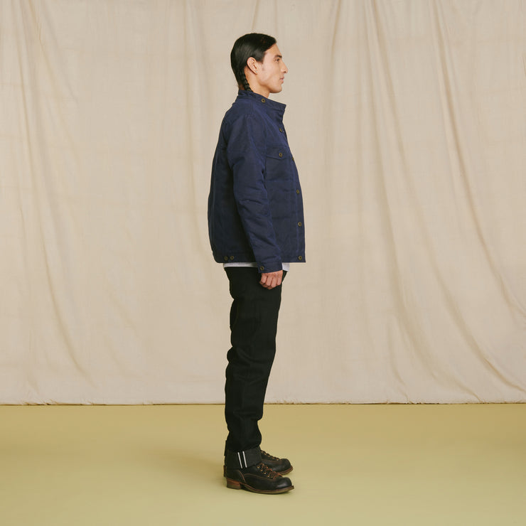 Wax Rider Coat Navy