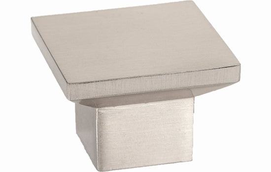 "1-9/16"" Sq Knob Brushed Nickel Elevate Collection"