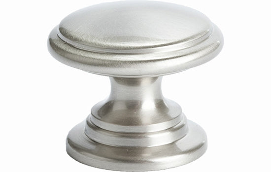"1-3/16"" Timeless Charm Knob Brushed Nickel - Andante Collection"