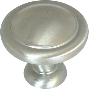 "1-1/4"" Mushroom Knob Satin Nickel - Allison Value Collection"