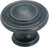 "1-5/16"" Mushroom Knob Wrought Iron Dark Inspirations Collection"