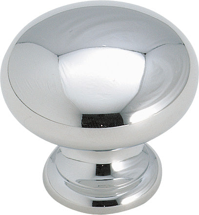 "1-1/4"" Mushroom Knob Polished Chrome - Brass Classics Collection"
