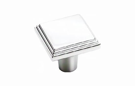 "1-1/16"" Square Knob Polished Chrome - Manor Collection"