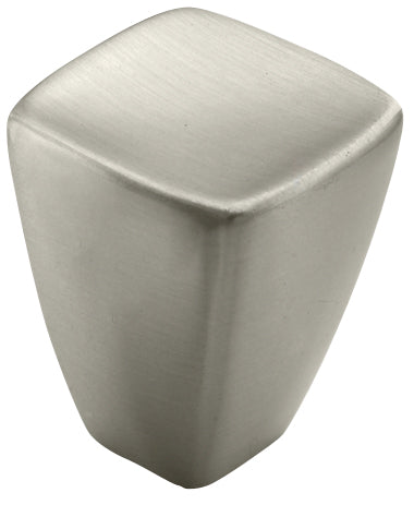 "7/8"" diameter Square Knob Satin Nickel - Creased Bow Collection"