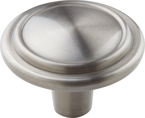 "1-1/4"" diameter Mushroom Cabinet Knob Satin Nickel - Allison Value Collection"