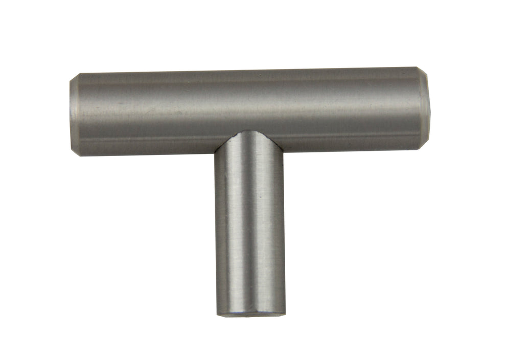 "Andrew Claire Collection 2"" T-Bar Pull Knob Satin Nickel (AC-102.SN)"