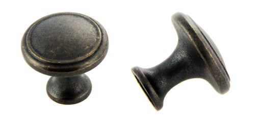 Andrew Claire Collection 30mm Deco Knob Weathered Black (AC-80576.DACM)