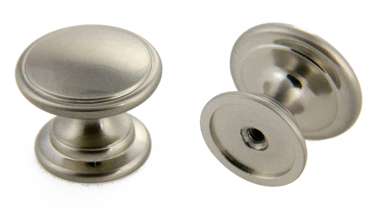 "Andrew Claire Collection 1-1/4"" Mushroom Knob Satin Nickel"