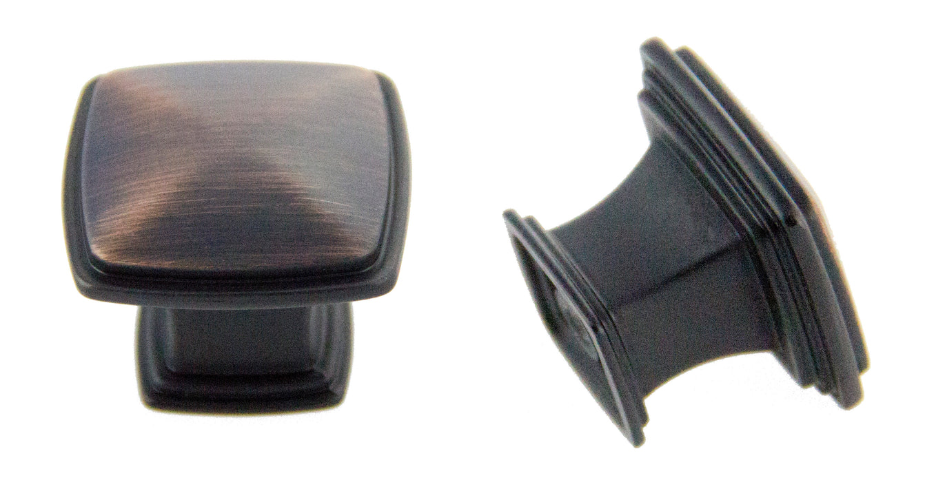 Andrew Claire Collection 32mm Square Knob - Oil Brushed Bronze