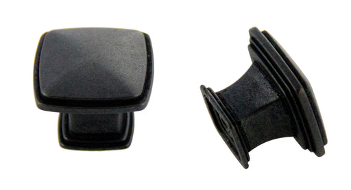 Andrew Claire Collection 32mm Square Knob Weathered Black
