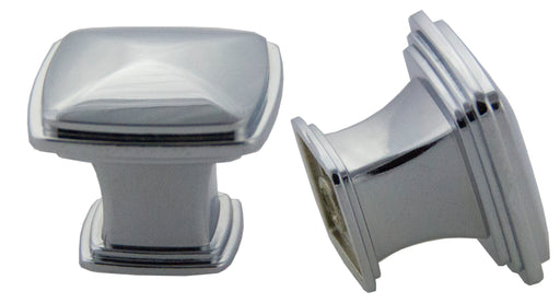 Andrew Claire Collection 32mm Square Knob - Polished Chrome