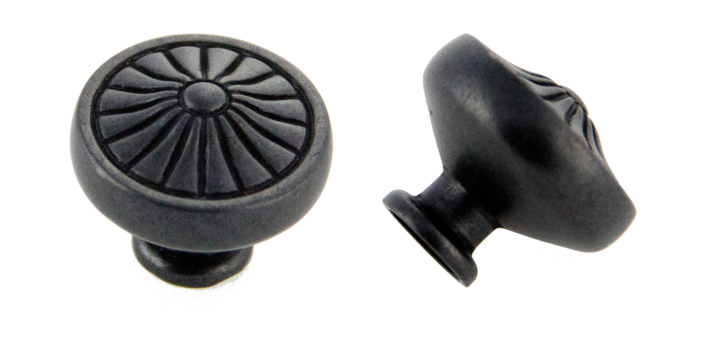 Andrew Claire Collection 32mm Pinwheel Knob Weathered Black (AC-81353.DACM)