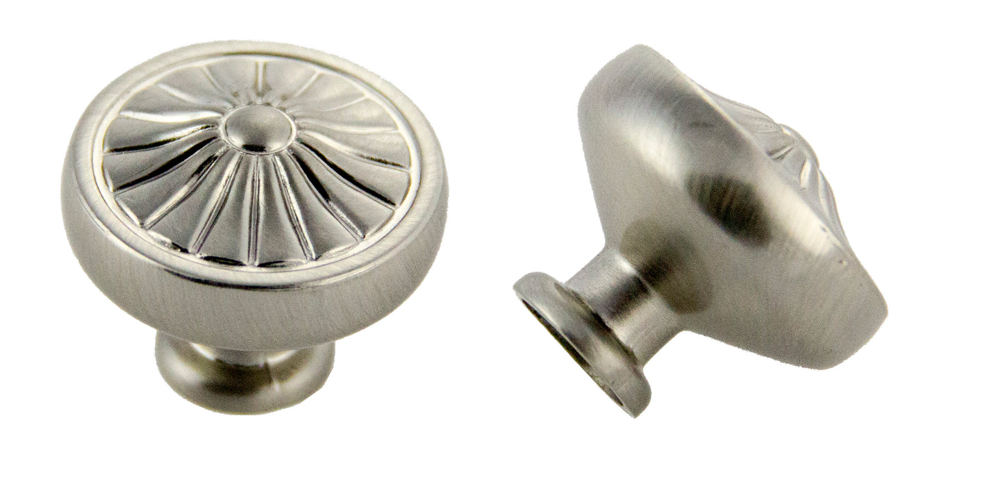 Andrew Claire Collection 32mm Pinwheel Knob Satin Nickel (AC-81353.SN)