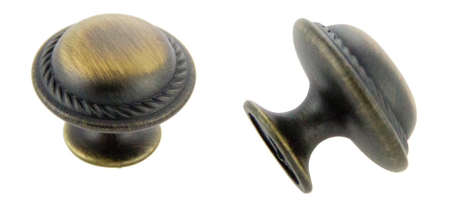 Andrew Claire Collection 30mm Rope Knob Antique Satin Brass (AC-81784.ABSB)