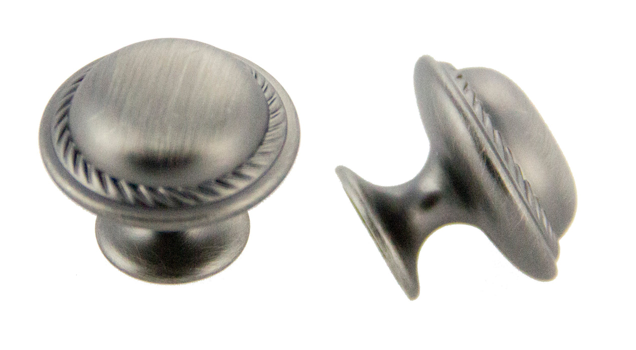Andrew Claire Collection 30mm Rope Knob Satin Pewter (AC-81784.APH)