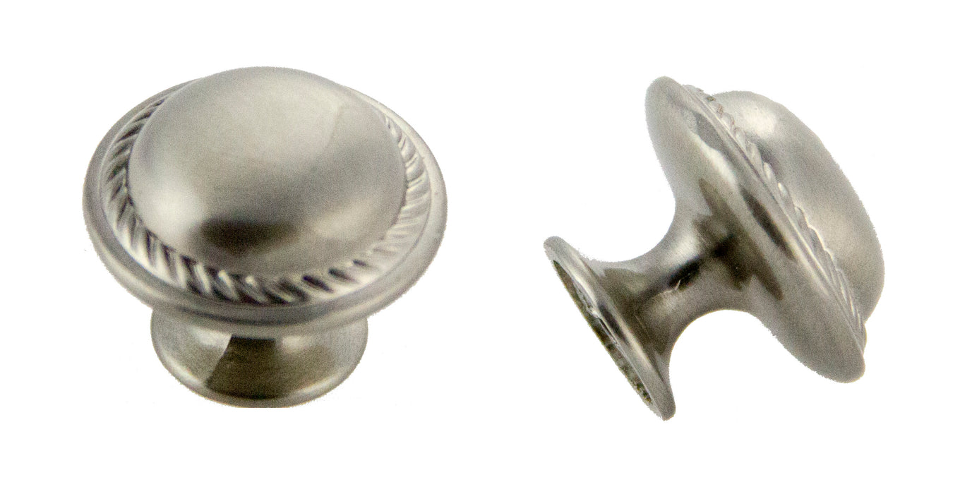 Andrew Claire Collection 30mm Rope Knob Satin Nickel (AC-81784.SN)