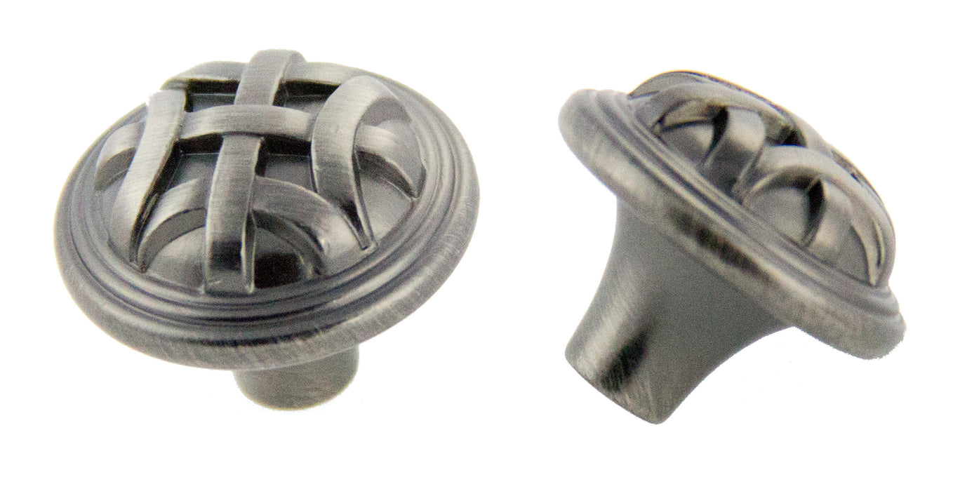 Andrew Claire Collection 32mm Braided Knob Satin Pewter (AC-82115.APH)