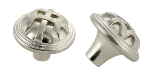 Andrew Claire Collection 32mm Braided Knob Satin Nickel (AC-82115.SN)