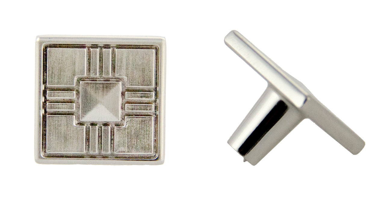 "Andrew Claire Collection 1-1/4"" Square Knob Satin Nickel"