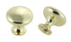 "Andrew Claire Collection 1-3/16"" Diecast Traditional Round Knob Polished Brass"