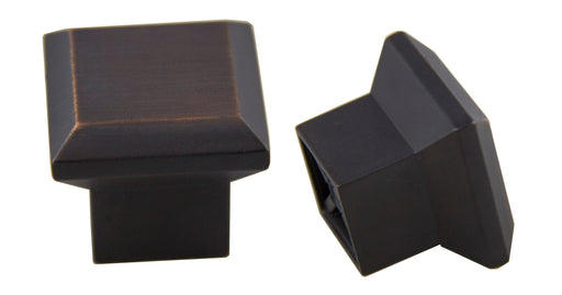 "Andrew Claire Collection 1-5/16"" Square Washington Knob Oil Brushed Bronze"