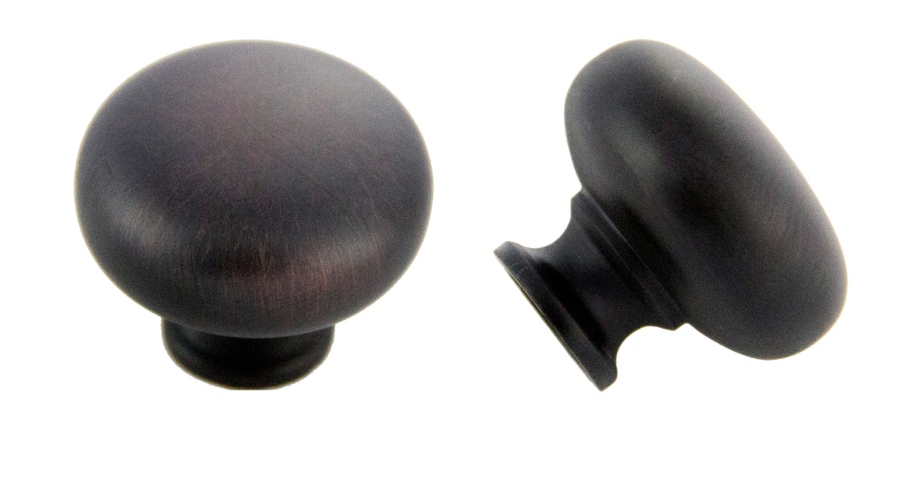 Andrew Claire Collection 31mm Mushroom Knob Oil Brushed Bronze (AC-928.10B)