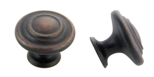 "Andrew Claire Collection 1-3/8"" Decorative Swirl Knob Oil Brushed Bronze"