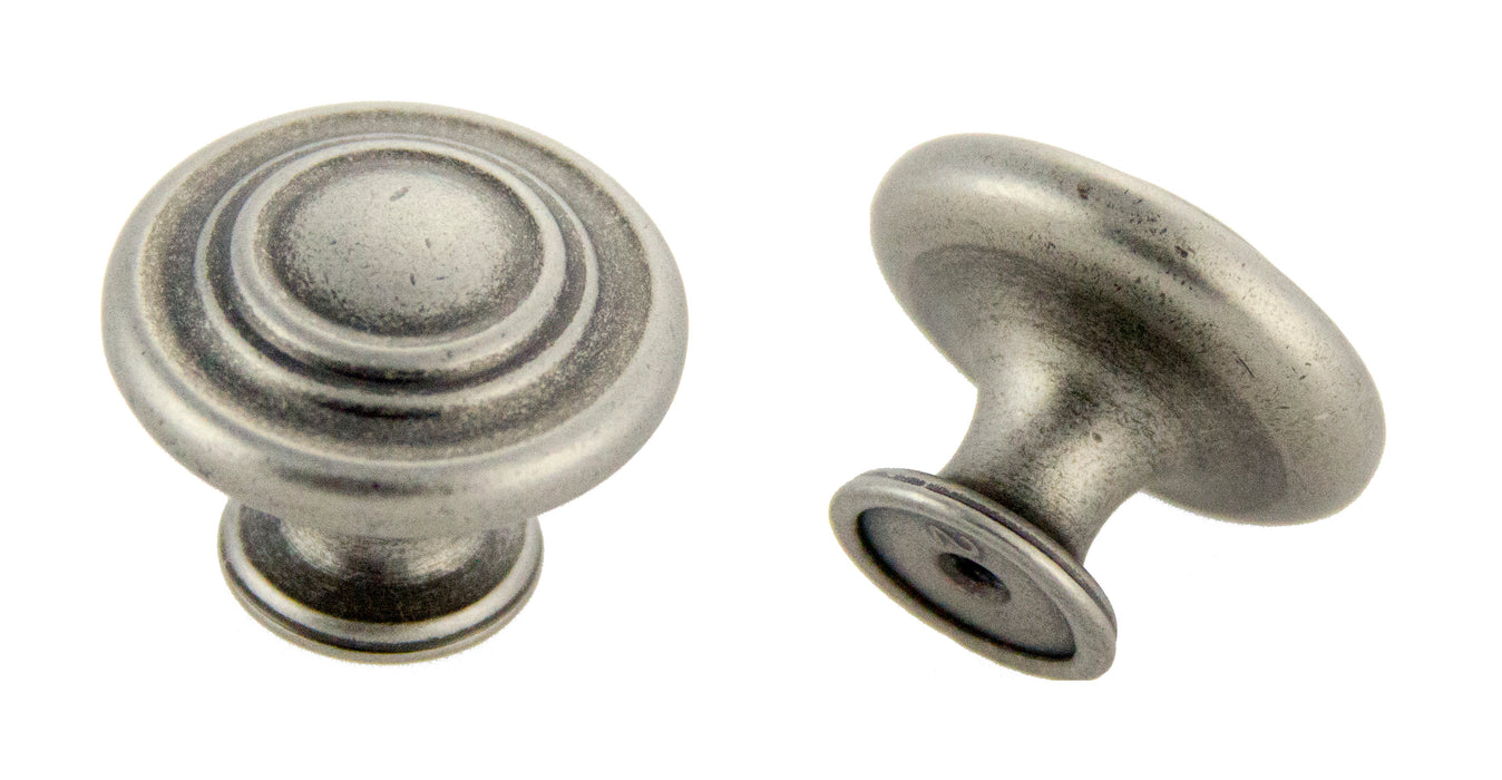 "Andrew Claire Collection 1-3/8"" Decorative Swirl Knob Weathered Nickel"