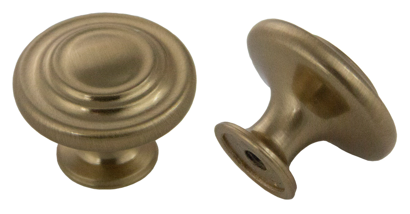 "Andrew Claire Collection 1-3/8"" Decorative Swirl Knob Rose Gold"