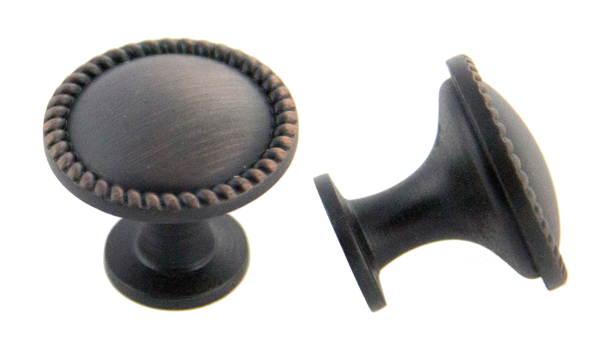 Andrew Claire Collection 30mm Rope Knob Oil Brushed Bronze (AC-972.10B)
