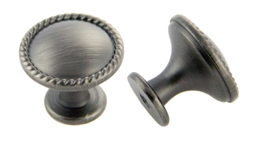 Andrew Claire Collection 30mm Rope Knob Satin Pewter (AC-972.APH)
