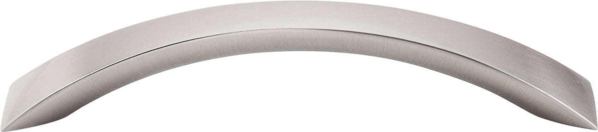 "5-1/16"" Crescent Flair Pull Brushed Satin Nickel - Nouveau III Collection"