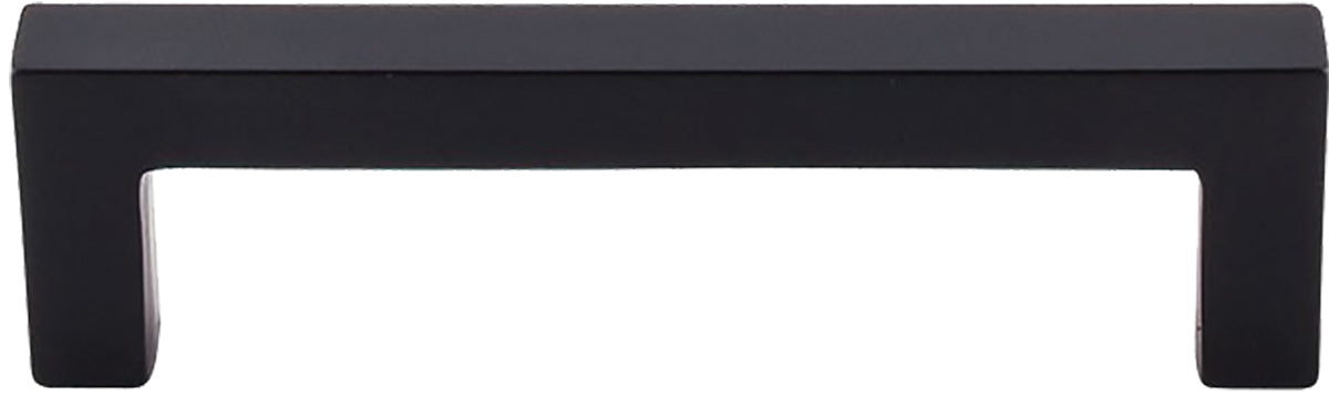 "3-3/4"" Square Bar Pull Flat Black - Nouveau III Collection"