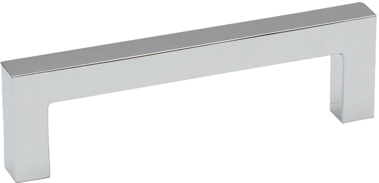 "3-3/4"" Square Bar Pull Polished Chrome - Nouveau III Collection"