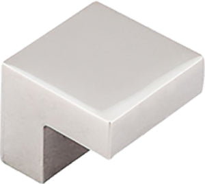"5/8"" Sq Knob Polished Nickel - Asbury Collection"