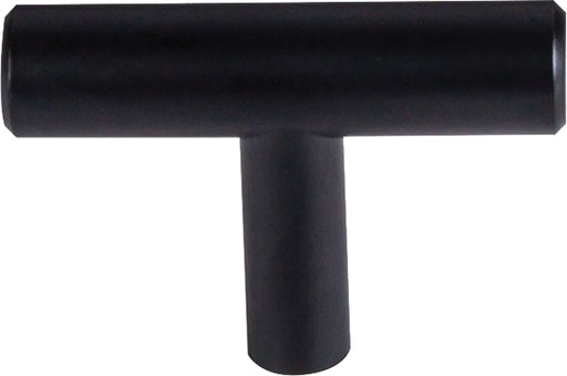 "2"" Hopewell T Knob Flat Black Hopewell Collection"