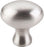 "1-1/4"" Egg Knob Brushed Satin Nickel - Somerset II Collection"