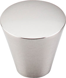 "1-1/16"" Cone Knob Brushed Satin Nickel - Nouveau Collection"