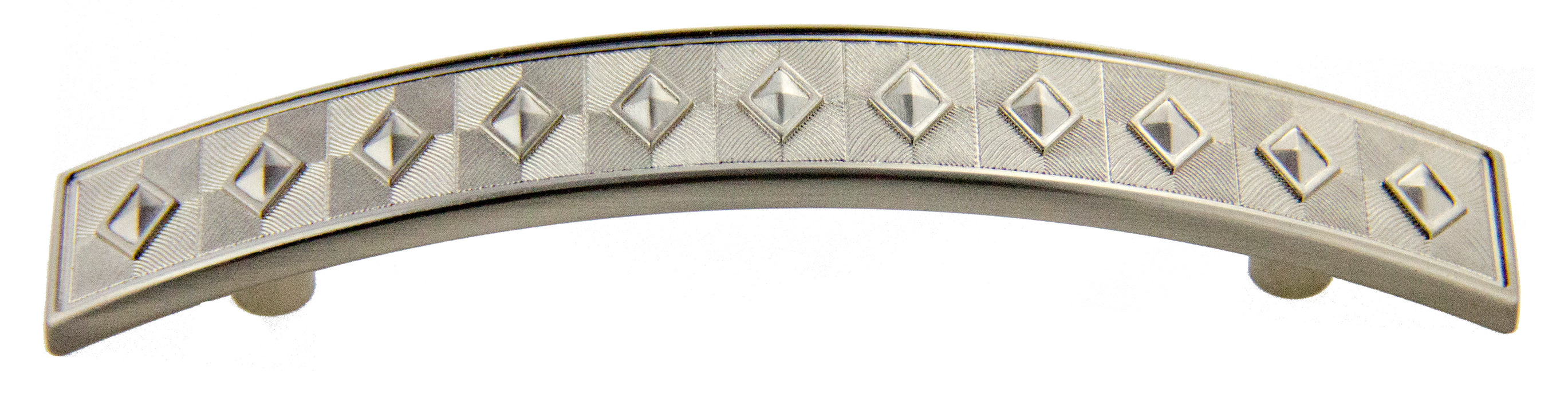 "Andrew Claire Collection 3-3/4"" Diamond Pull Satin Nickel (AC-81393.SN)"