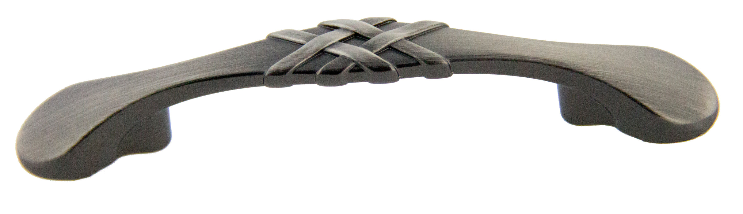 "Andrew Claire Collection 3"" Braided Pull Satin Pewter (AC-83063.APH)"