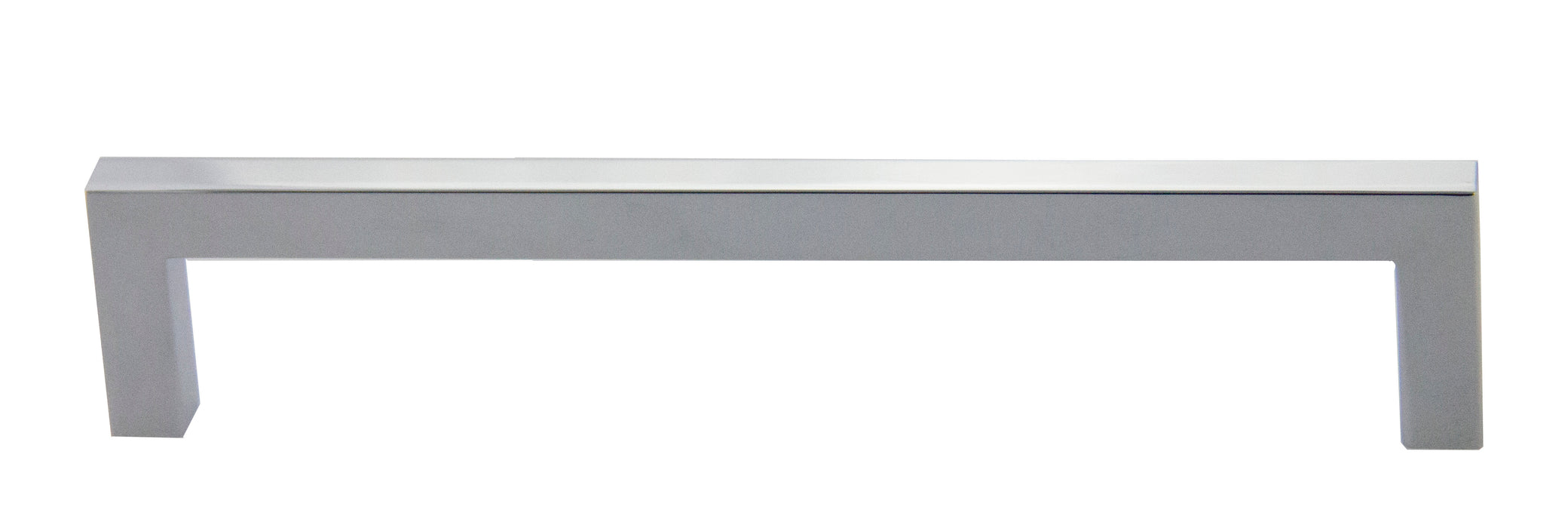 "Andrew Claire Collection 6-3/4"" Modern Square Pull - Polished Chrome"