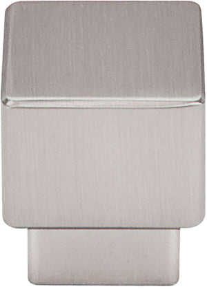 "1"" Tapered Medium Sq Knob Brushed Satin Nickel - Sanctuary Collection"
