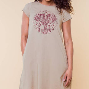 Twisted Trunk T-Shirt Dress