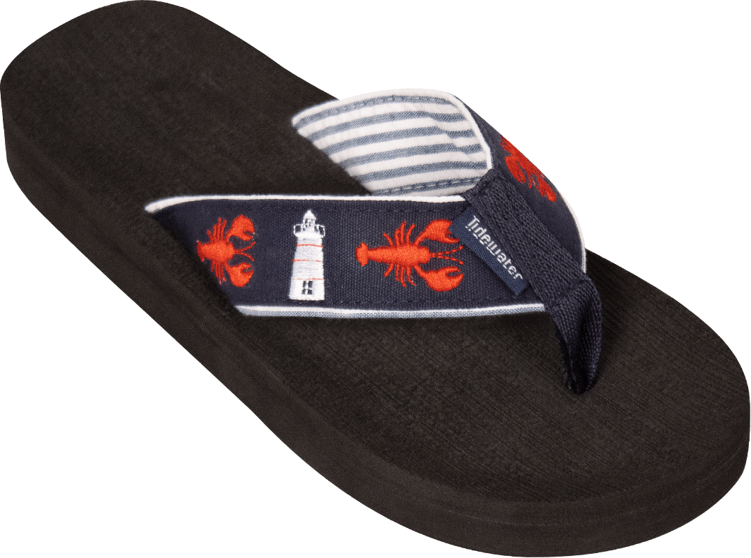 Lobsters & Lighthouse Flip Flops