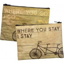 Where You Go I Go Zipper Pouch