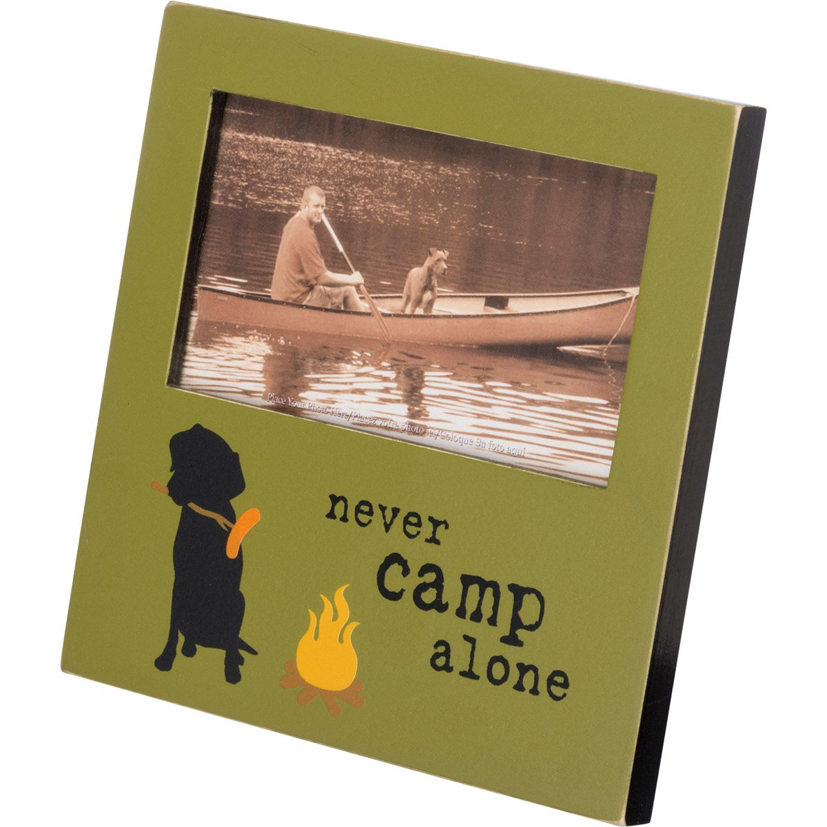 Never Camp Alone Picture Frame